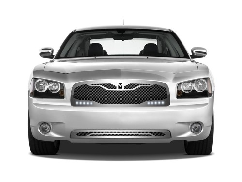 Macaro Lower bumper grille for 2005-2010 Dodge Charger fits Srt-8 Only models (Triple Chrome finish)