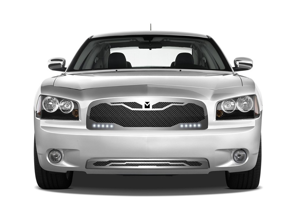 macaro lower bumper grille for 2005 2010 dodge charger. Black Bedroom Furniture Sets. Home Design Ideas