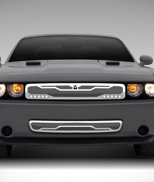 Macaro Lower bumper grille for 2011-2014 Dodge Challenger fits 2011-2014 models (Matte black finish)
