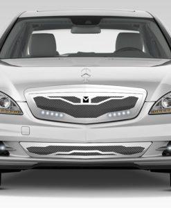 Macaro Lower bumper grille for 2007-2009 Mercedes Benz S550 fits All Except Amg Sport models (Matte black finish)