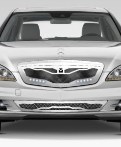 Macaro Lower bumper grille for 2007-2009 Mercedes Benz S550 fits All Except Amg Sport models (Polished finish)