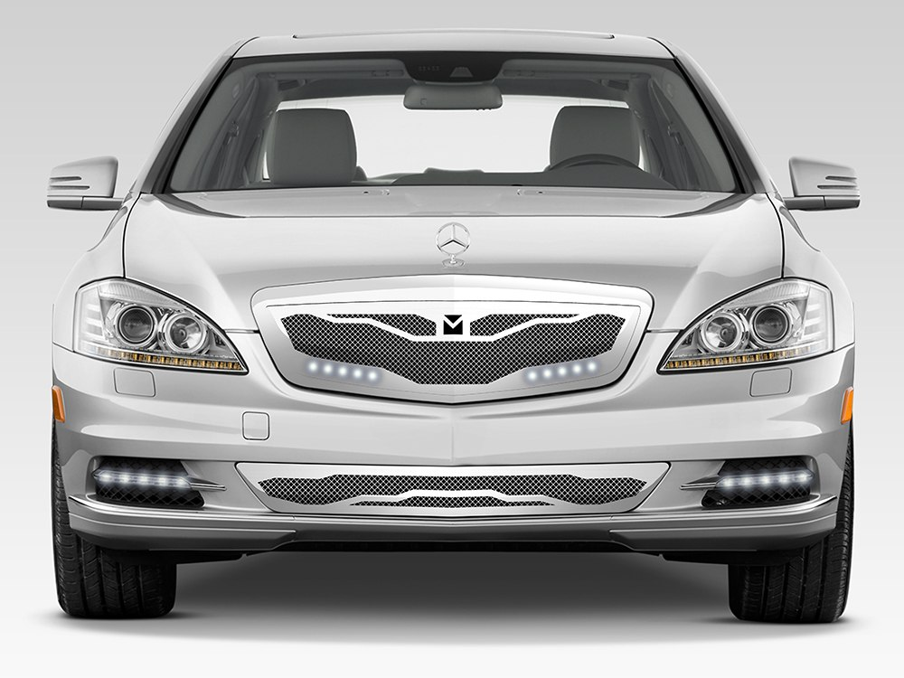 Macaro lower bumper grille for 2007 2009 mercedes benz for Mercedes benz chrome accessories