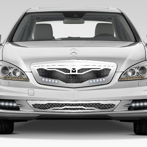 Macaro Lower bumper grille for 2010-2013 Mercedes Benz S550 fits All models (Triple Chrome finish) 1