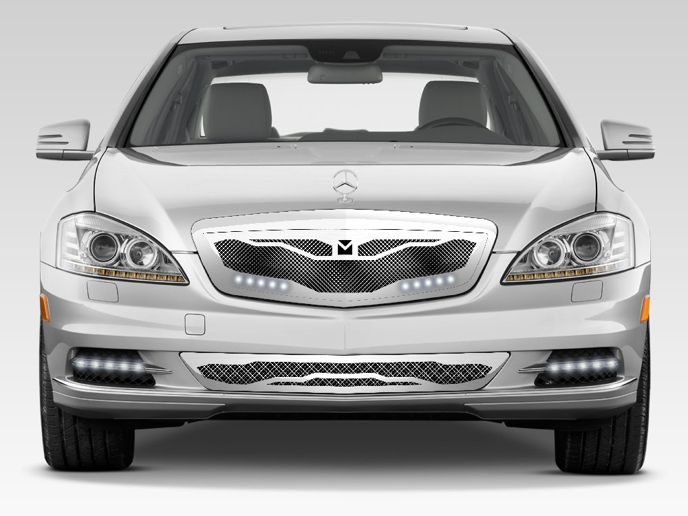 Macaro Lower Bumper Grille For 2010 2013 Mercedes Benz