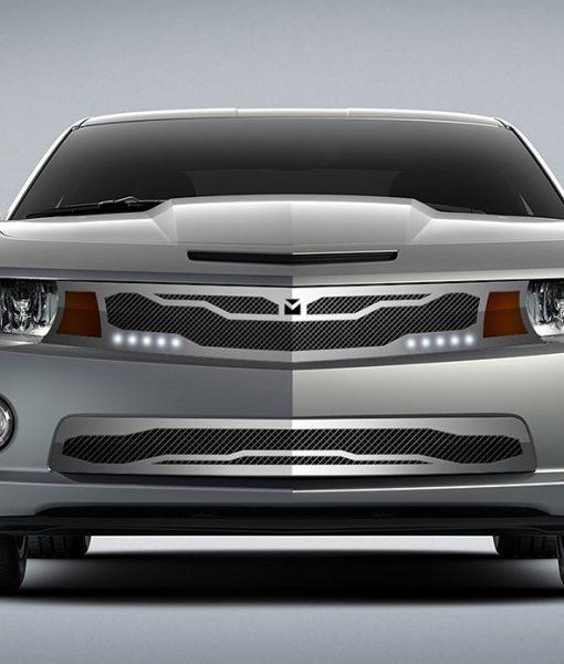 Macaro Lower bumper grille for 2010-2013 Chevrolet Camaro fits V8 models (Matte black finish)