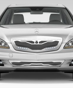 Macaro Hood Cowl Grille for 2010-2013 Mercedes Benz S550 fits All models (Polished finish)