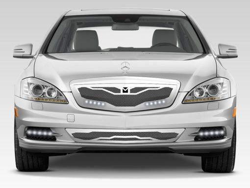 Macaro Hood Cowl Grille for 2010-2013 Mercedes Benz S550 fits All models (Triple Chrome finish)