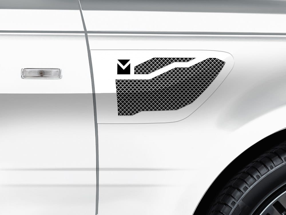 Macaro Side Vents for 2005-2009 Range Rover Sport fits Sport models (Triple Chrome finish)