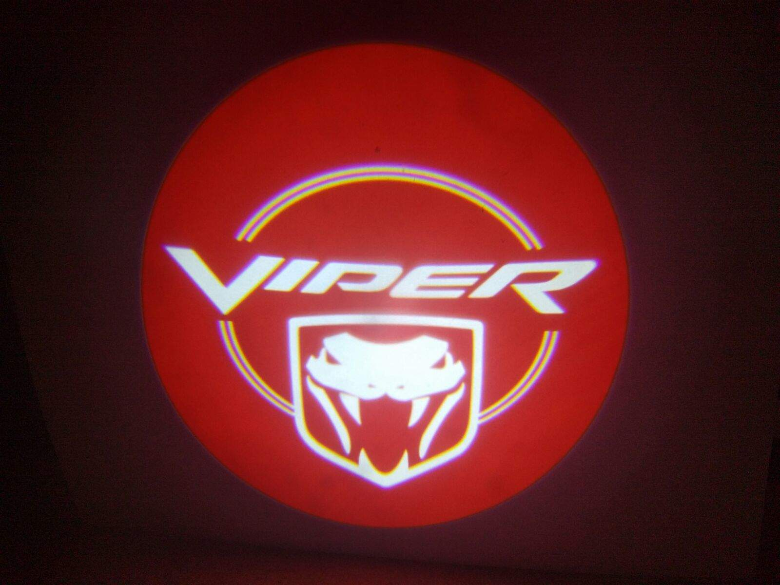 Dodge Viper Red Door Projector Light