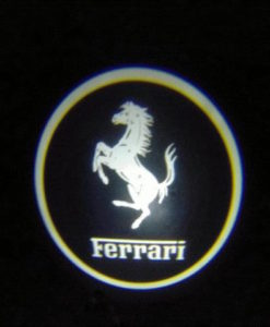 Ferrari White Door Projector Courtesy Puddle Logo Light