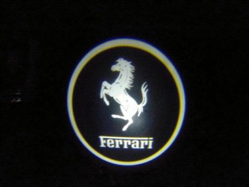 Ferrari White Door Projector Courtesy Puddle Logo Light
