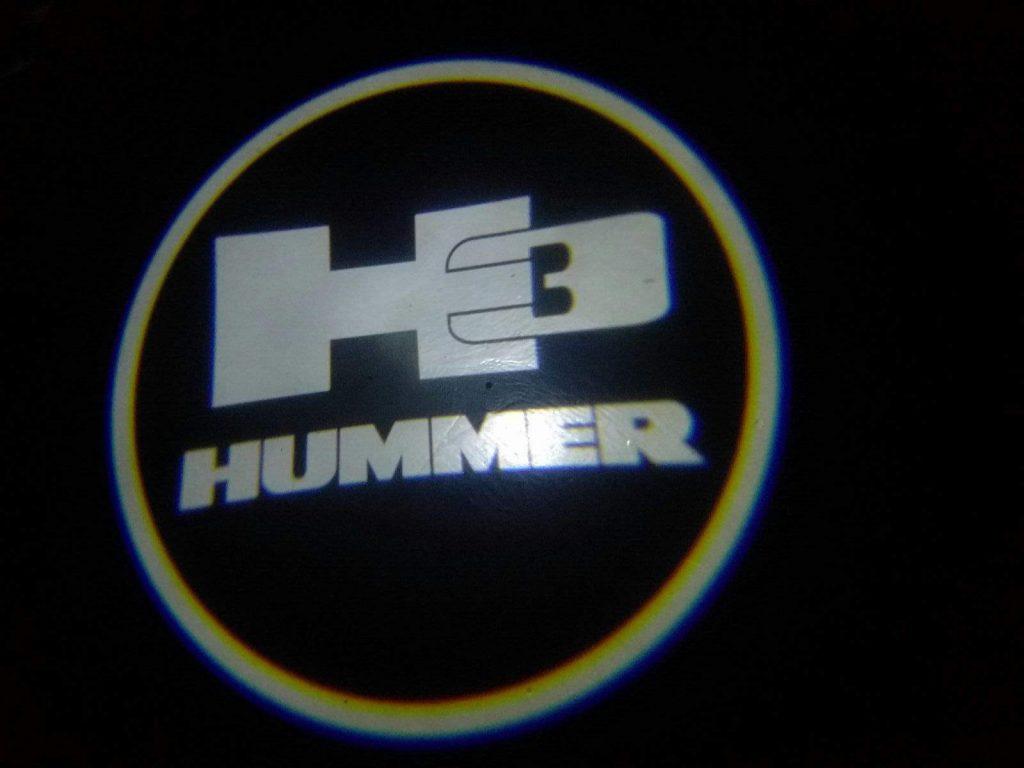 hummer h3 led door projector courtesy puddle logo lights
