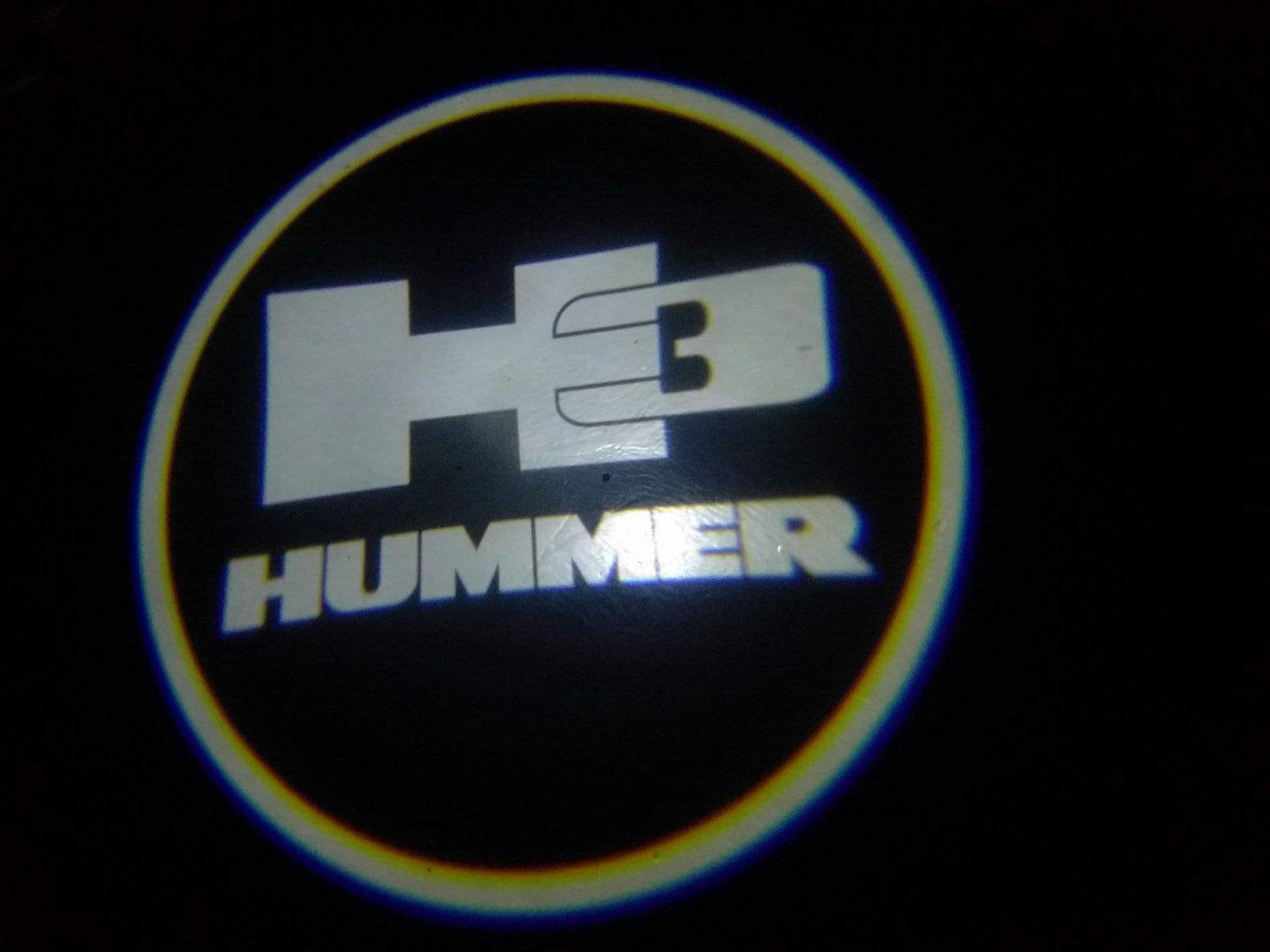 Hummer 3 Door Projector Courtesy Puddle Logo Lights