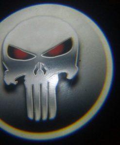 Punisher Red Eye Door Projector Courtesy Puddle Logo Light
