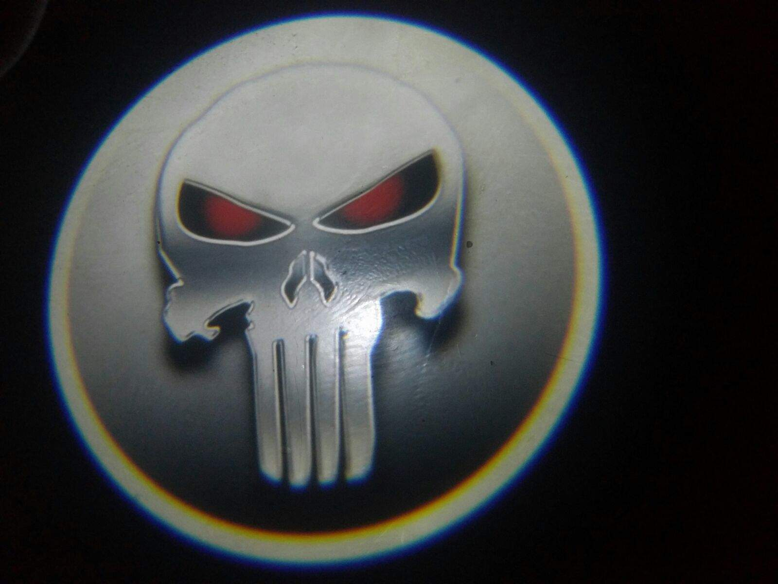 Punisher Red Eye Door Projector Courtesy Puddle Logo Light