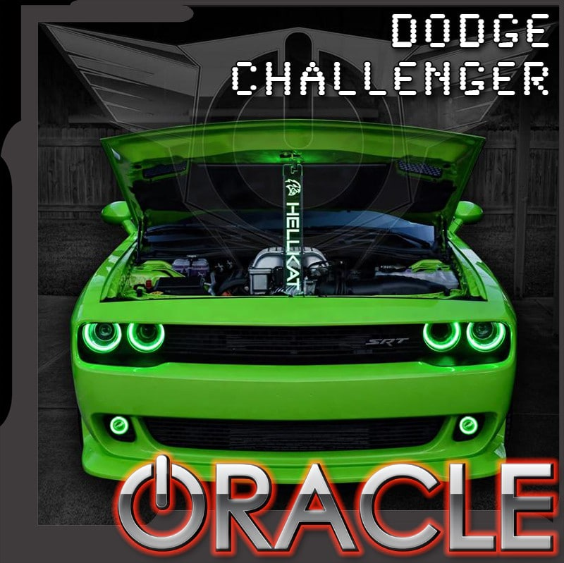 2015 Dodge Challenger Oracle Led Projector Led Fog Halo