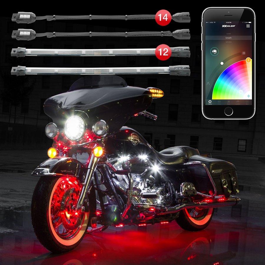 14 Pod 12 Strip 2nd Gen Xkchrome App Control Motorcycle