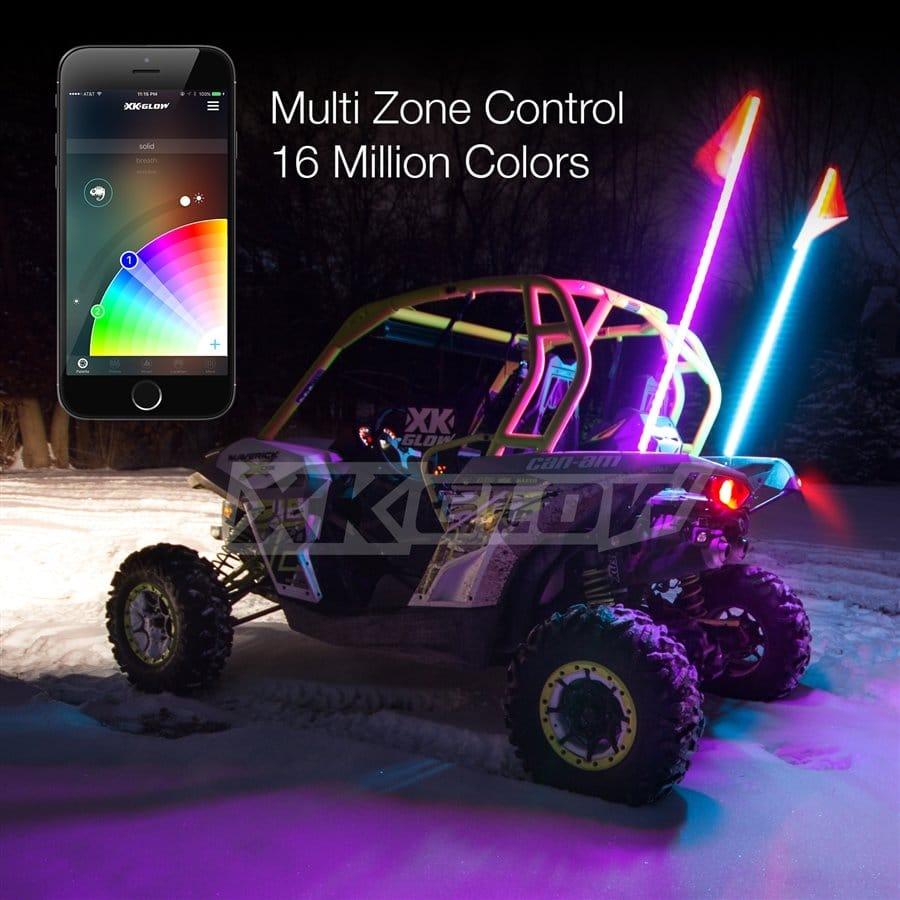 2x Whip Xkchrome Advanced App Control Led Whip Light Kit