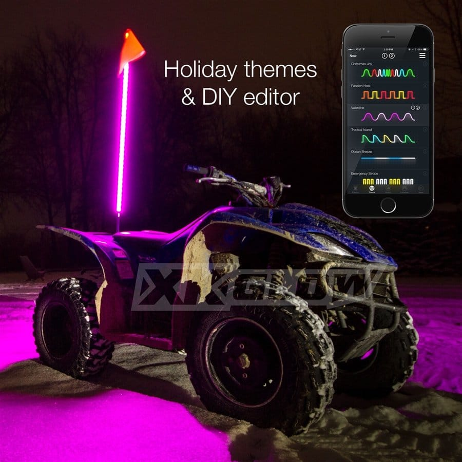 2x Whip Xkchrome Advanced App Control Led Whip Light Kit