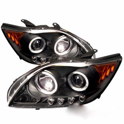 Halo Angel Eyes Projector Smoke Headlight+Black LED Tail ...