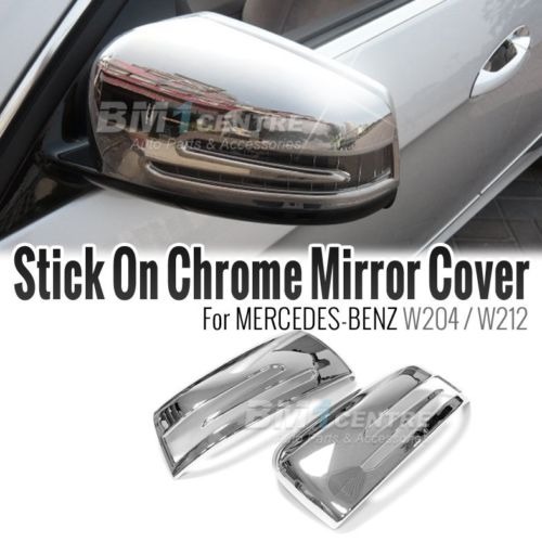 Chrome side mirror cover set for mercedes benz c e class for Mercedes benz chrome accessories