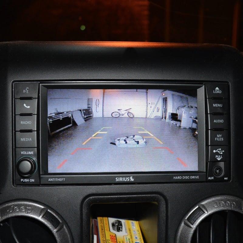 Jeep Wrangler Adjustable Infrared Light Rear Vision Camera