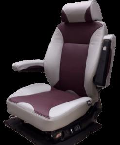 Knoedler Low profile suspension seat-maroon
