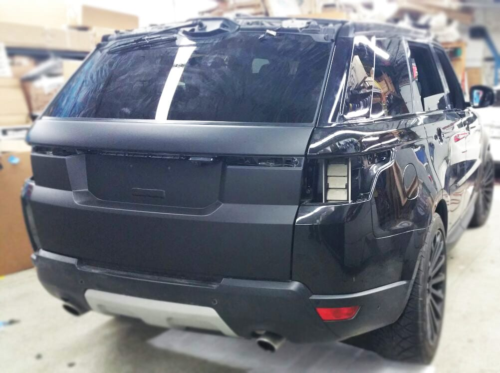2017 Range Rover Sport Matte Black Wrap Mr Kustom Auto