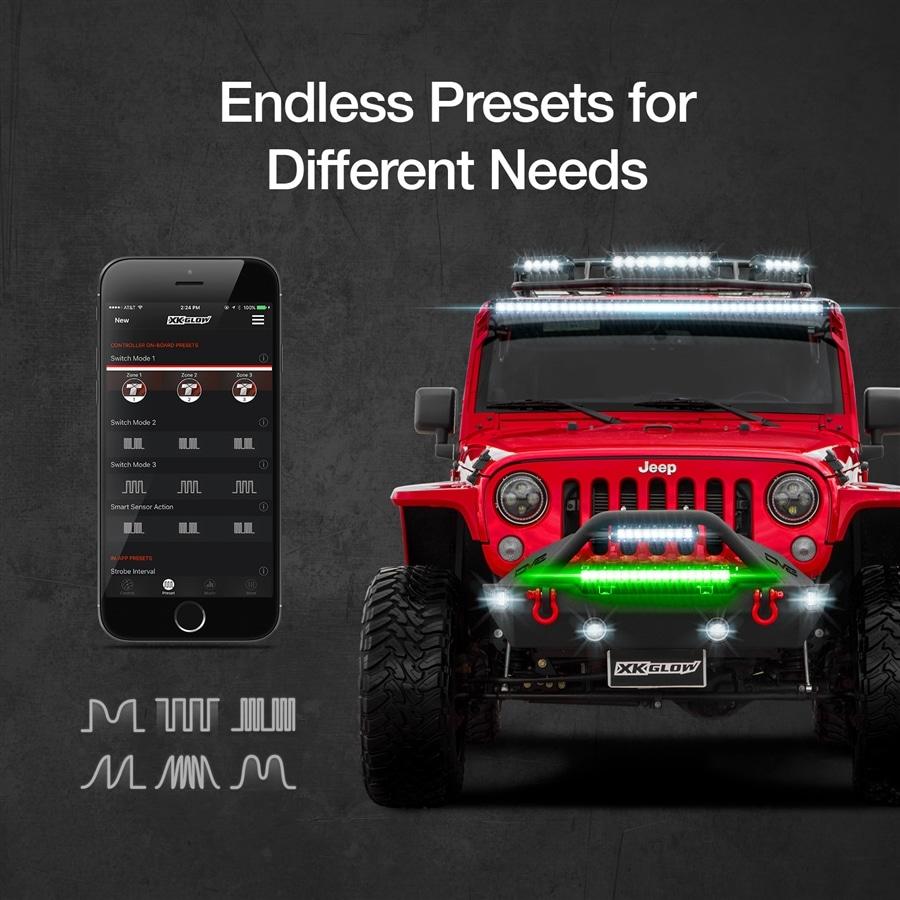 XK-TITAN Smartphone App Control Bluetooth 12V 500W High