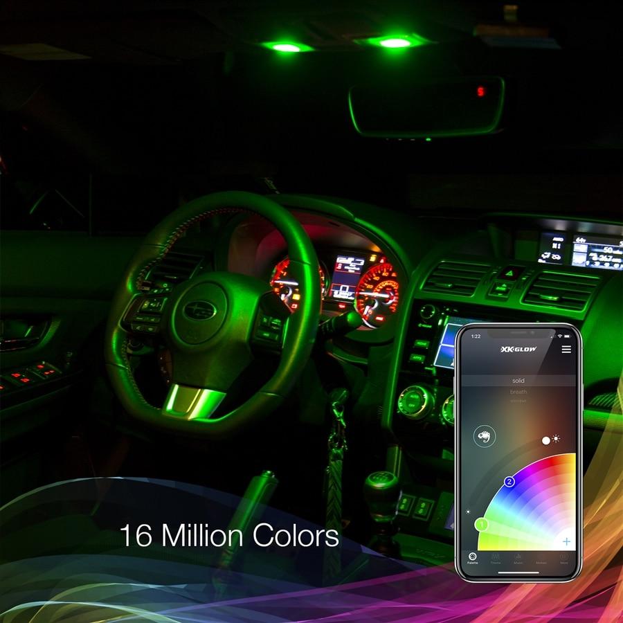 T10 Ba9s Festoon Bluetooth Led Panel Bulb Xkchrome Controlled Wireless Car Truck Interior Light Dome
