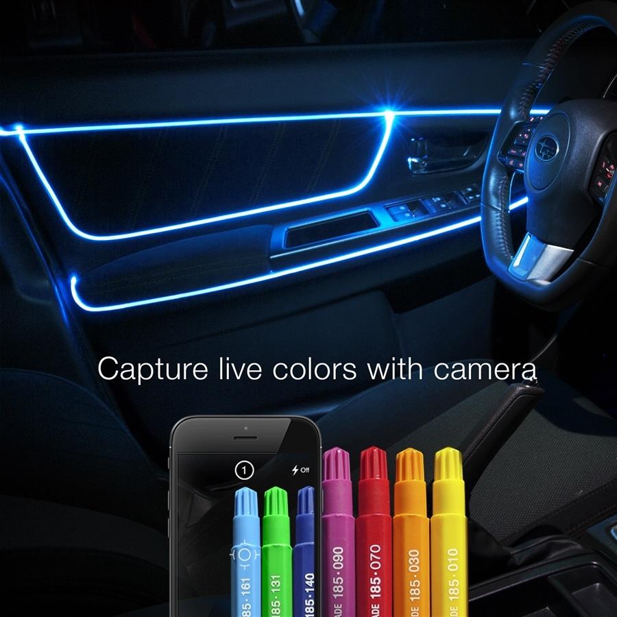 ft fiber optic roll pc led head xkchrome app controlled fiber optic led accent light kit