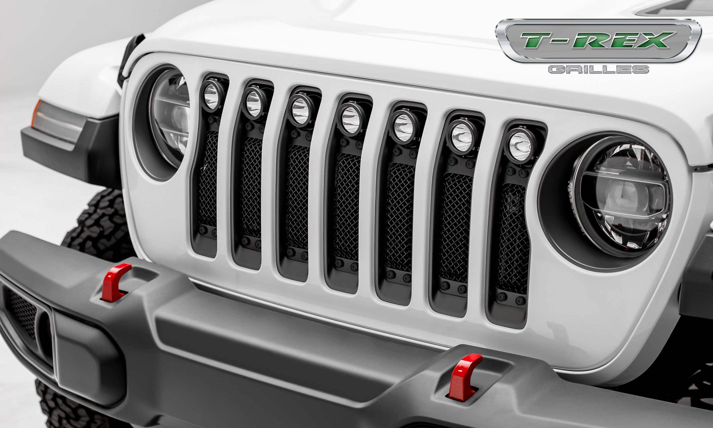 Jeep Wrangler Jl Stealth Torch Series W 7 2 Round Led Lights Custom Tj Tow Wiring