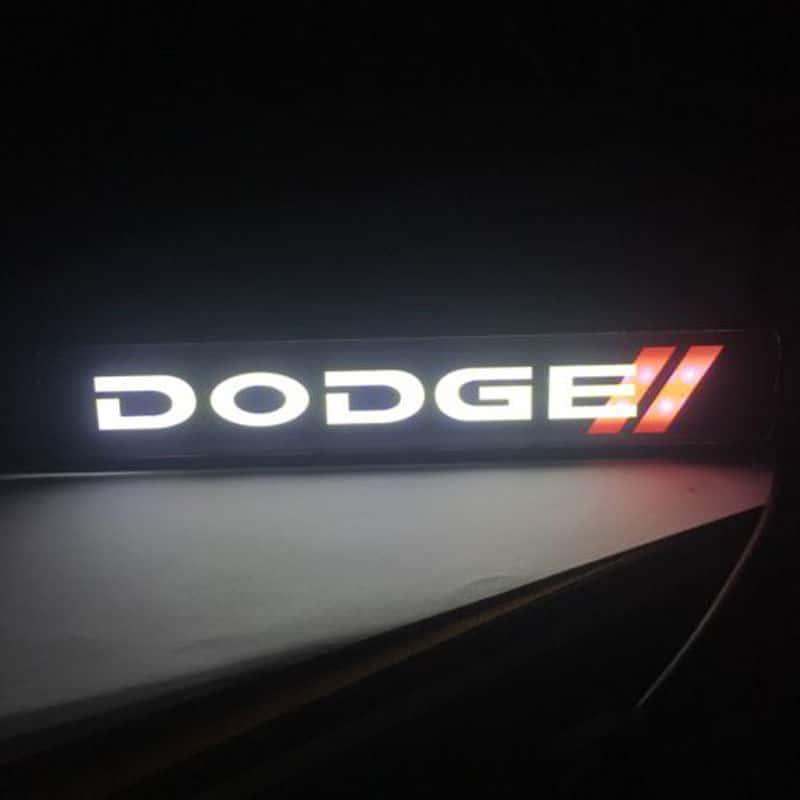 Illuminated Dodge 3d Emblem Badge Mr Kustom Auto