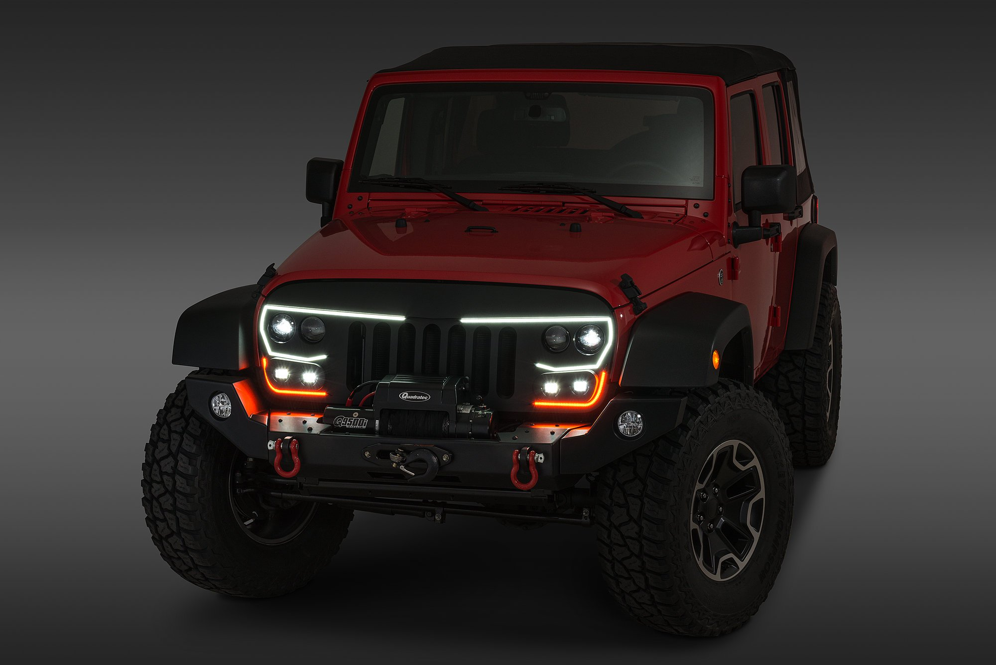 Jeep Wrangler Grill >> Oracle Lighting Vector Grill For 07 18 Jeep Wrangler Jk